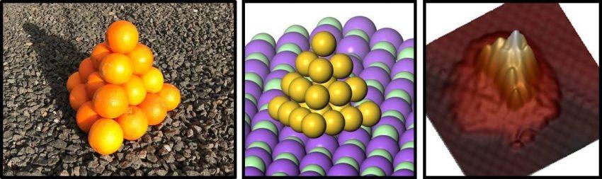 átomos de oro