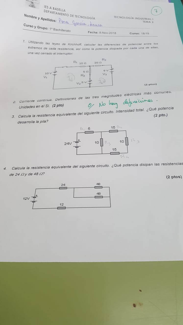 Circuito Electrico En Serie : Circuito eléctrico en serie potencia útil y total unicoos.com
