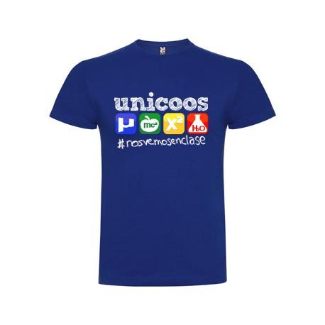 Camiseta chico unicoos iconos azul